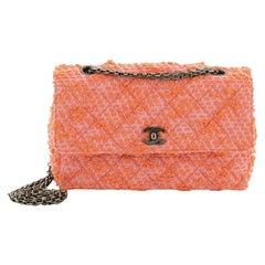 Chanel Vintage Reissue Chain Flap Bag Quilted Tweed Medium