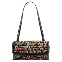 Chanel Vintage Reissue Flap Handbag Multicolor Quilted Velvet with Patent