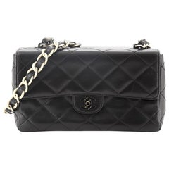 Chanel Vintage Resin Chain CC Flap Bag Quilted Lambskin Medium