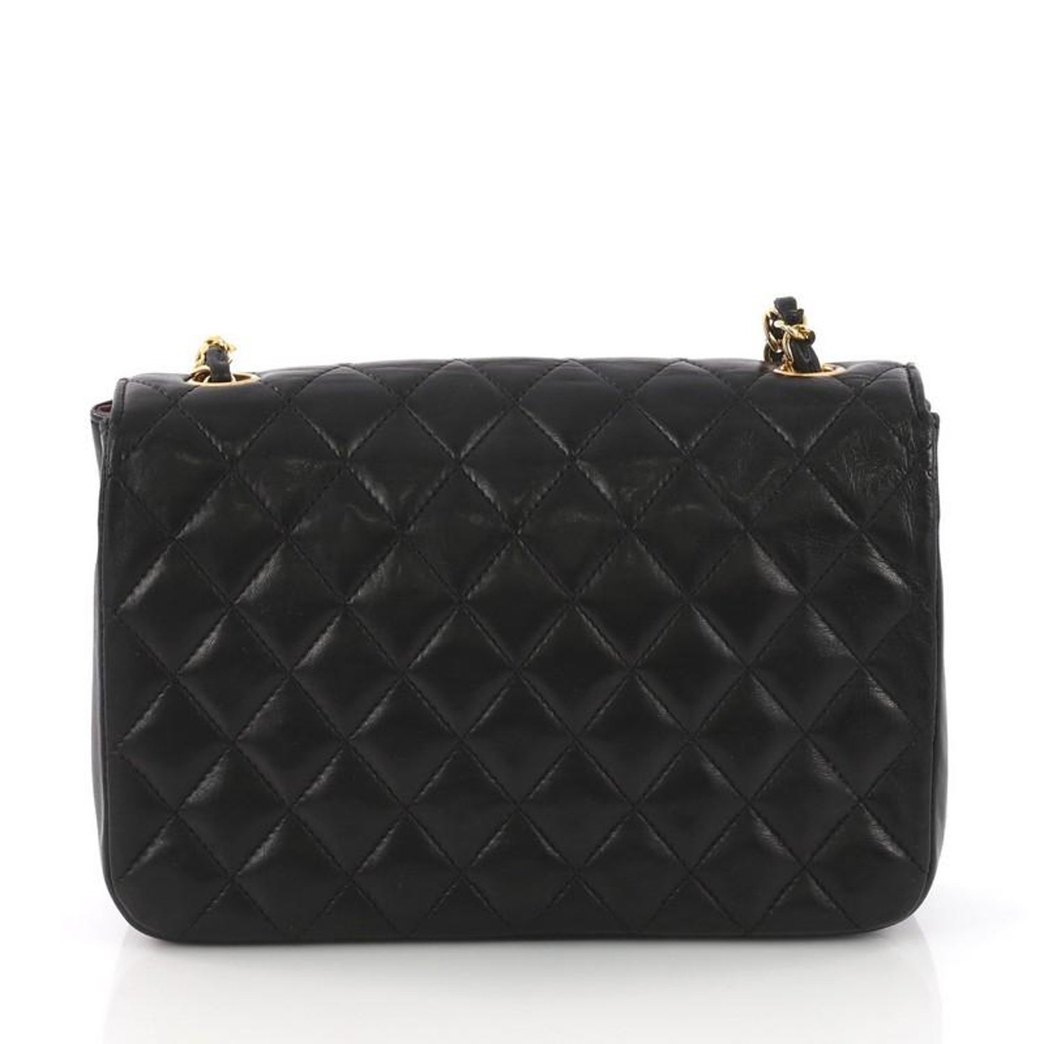 deb945d47408 Chanel Vintage Round Flap Bag Quilted Lambskin Medium at 1stdibs