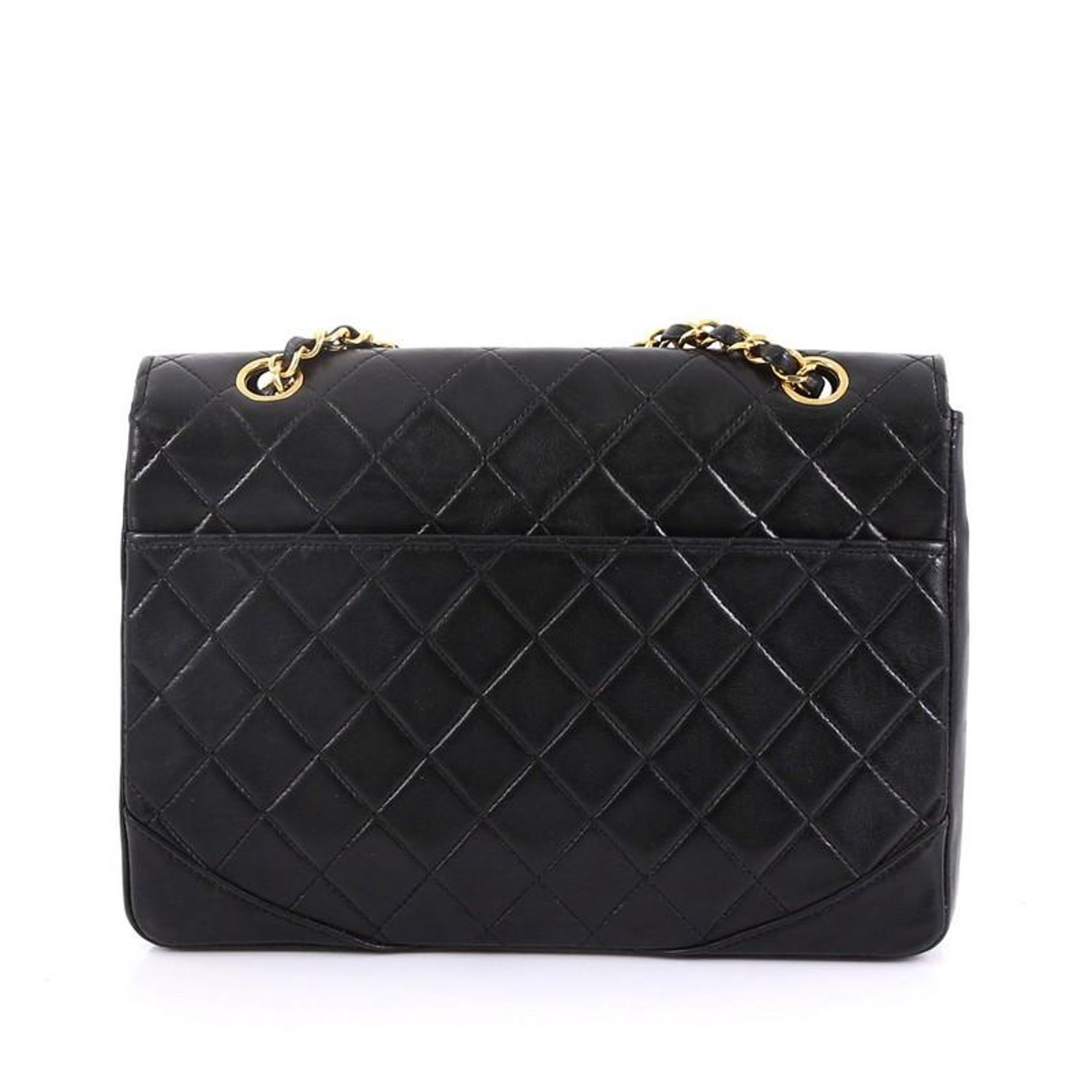 c4b59ee4c730 Chanel Vintage Round Flap Bag Quilted Lambskin Medium at 1stdibs