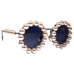 Chanel Vintage Runway Pearls Spring Summer 1994 Sunglasses Made In Italy