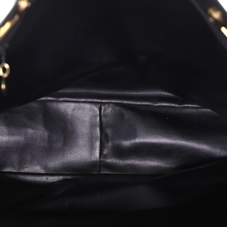 Women's or Men's Chanel Vintage Shopping Tote Lambskin Large