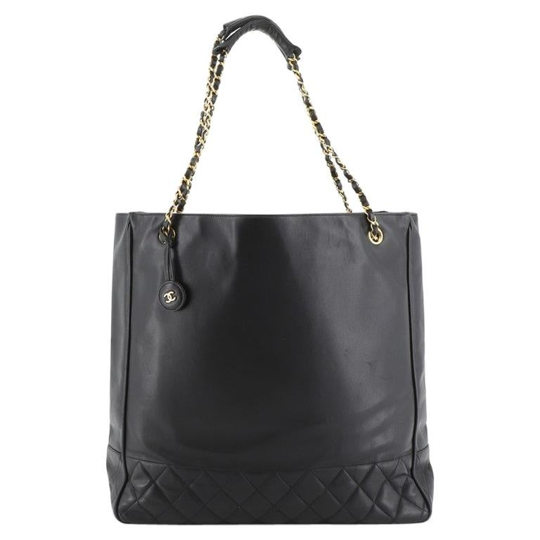 Chanel Vintage Shopping Tote Lambskin Large