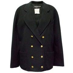 Chanel Vintage Short Black Coat/Jacket