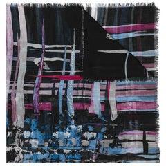 Chanel Vintage silk-cashmere scarf