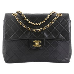 Chanel Vintage Square CC Flap Bag Quilted Lambskin Medium