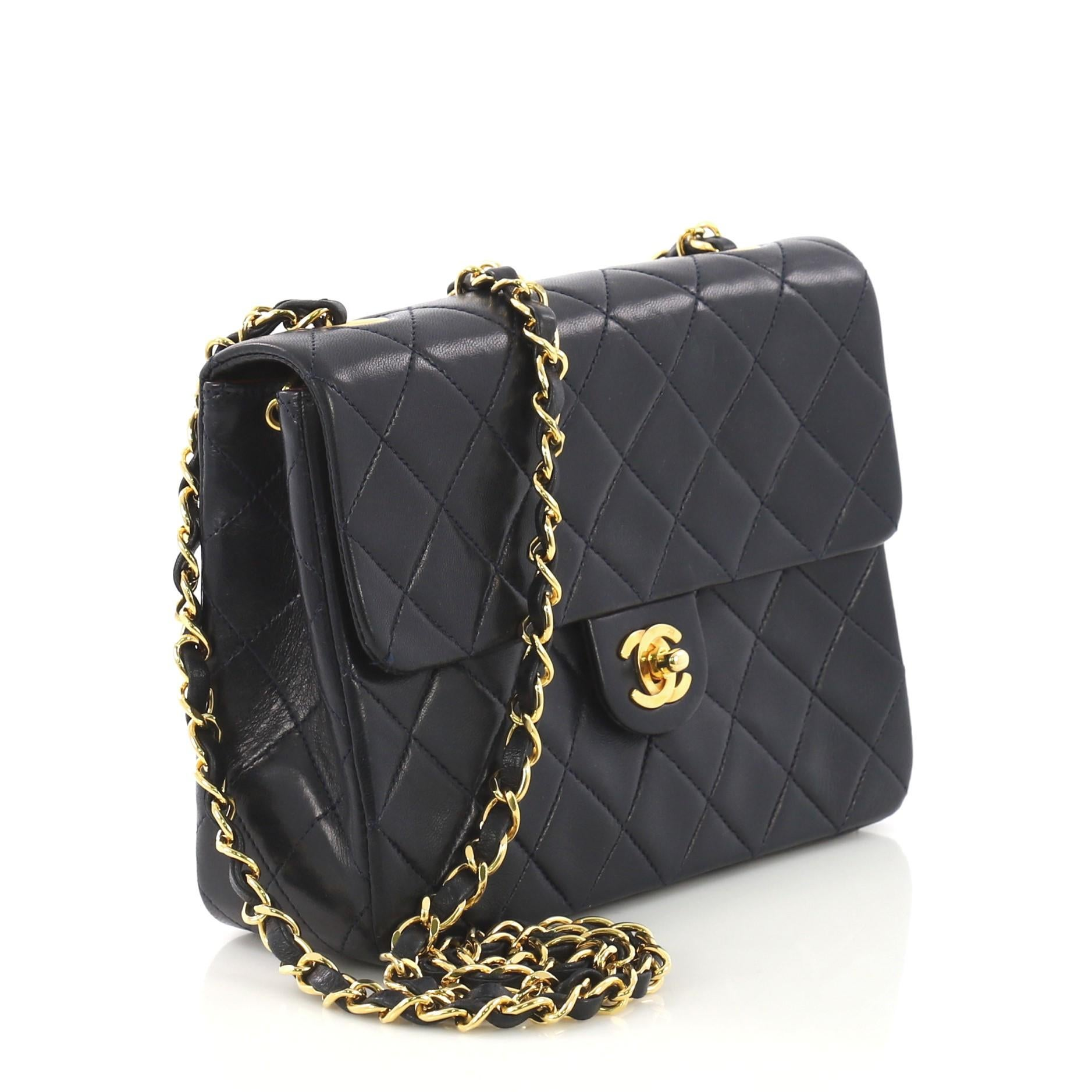 fc5308513cbc Chanel Vintage Square Classic Flap Bag Quilted Lambskin Small For Sale at  1stdibs