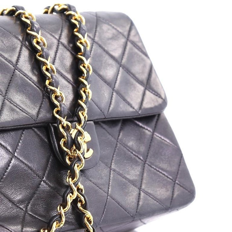 3d3e256ae8b3 Chanel Vintage Square Classic Flap Bag Quilted Lambskin Small For Sale 4
