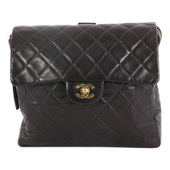 Chanel Vintage Square Flap Backpack Quilted Lambskin Medium