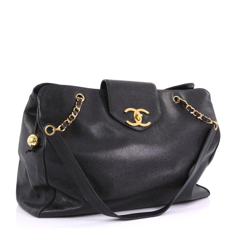 7c44e2ddd58d Chanel Vintage Supermodel Weekender Bag Caviar Large For Sale at 1stdibs