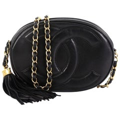 Chanel Vintage Tambourine Crossbody Bag Leather Mini