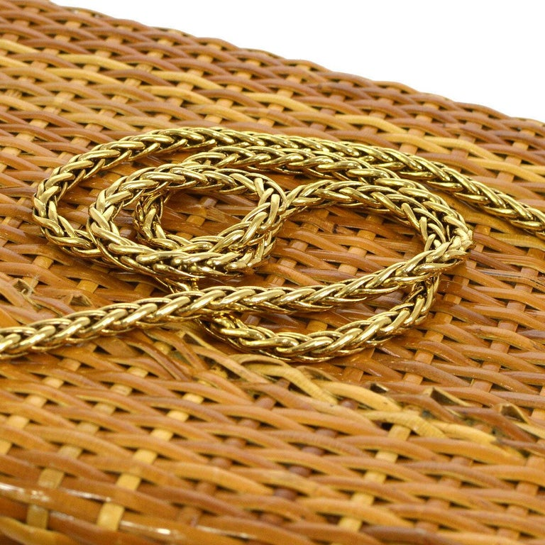 Chanel Vintage Tan Wicker Rattan Gold Picnic Lunch Bucket Shoulder Flap Small Bag  Wicker Gold tone hardware Leather lining Date code present Made in Italy Shoulder strap drop 19