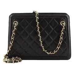 Chanel Vintage Tassel Shoulder Bag Quilted Leather Small