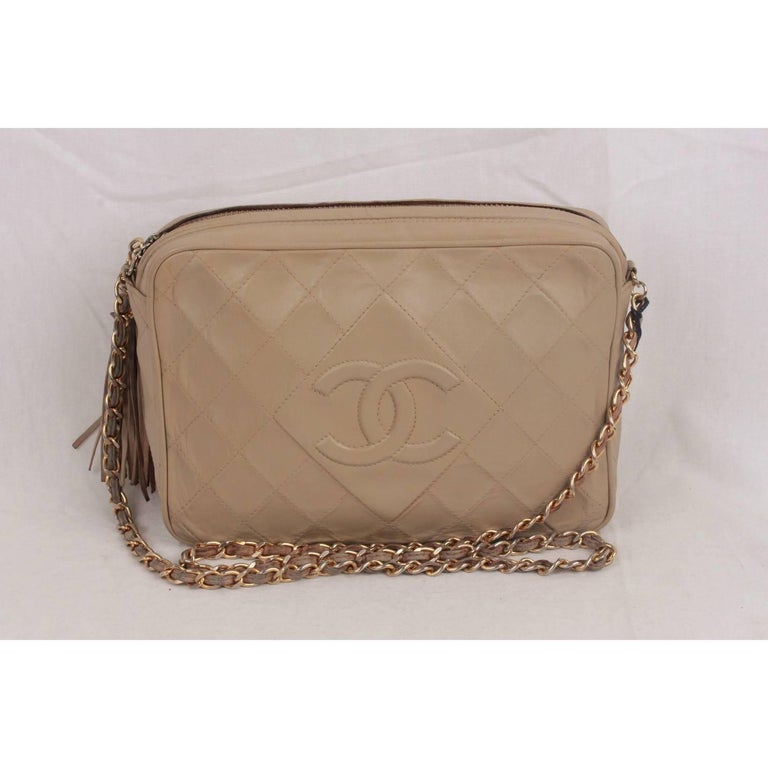 a1c9b9653005 Vintage Chanel Classic Camera bag with CC - CHANEL logo front stitching -  Period/