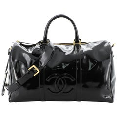 Chanel Vintage Timeless Boston Bag Patent Large