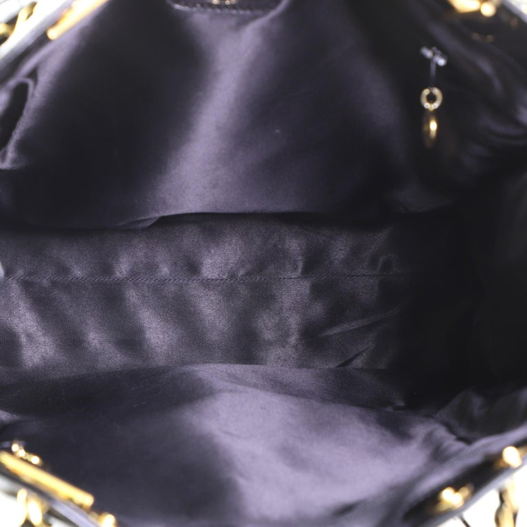 Women's or Men's Chanel Vintage Timeless Chain Tote Patent Tall  For Sale