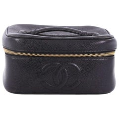 Chanel Vintage Timeless Cosmetic Case Caviar