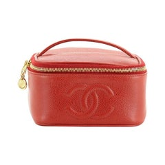 Chanel Vintage Timeless Cosmetic Case Caviar Small