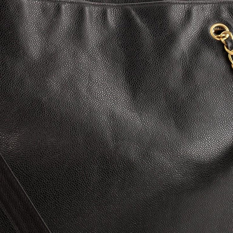 Chanel Vintage Timeless Flat Tote Caviar XL For Sale 2