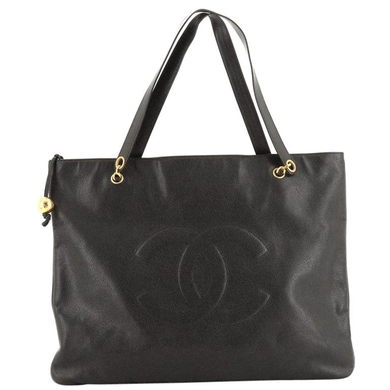 Chanel Vintage Timeless Flat Tote Caviar XL For Sale