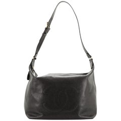 Chanel Vintage Timeless Hobo Caviar Large