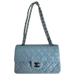 Chanel, Vintage Timeless in blue leather