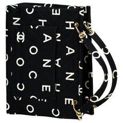 Chanel Vintage Timeless Logo Letters Tote