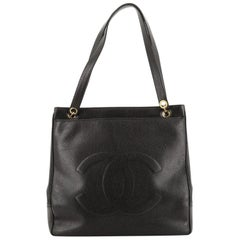 Chanel Vintage Timeless Pocket Chain Tote Caviar Large