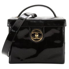 Chanel Vintage Timeless Vanity Case Patent Small