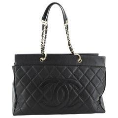 Chanel  Vintage Timeless Weekender Bag Quilted Caviar Large