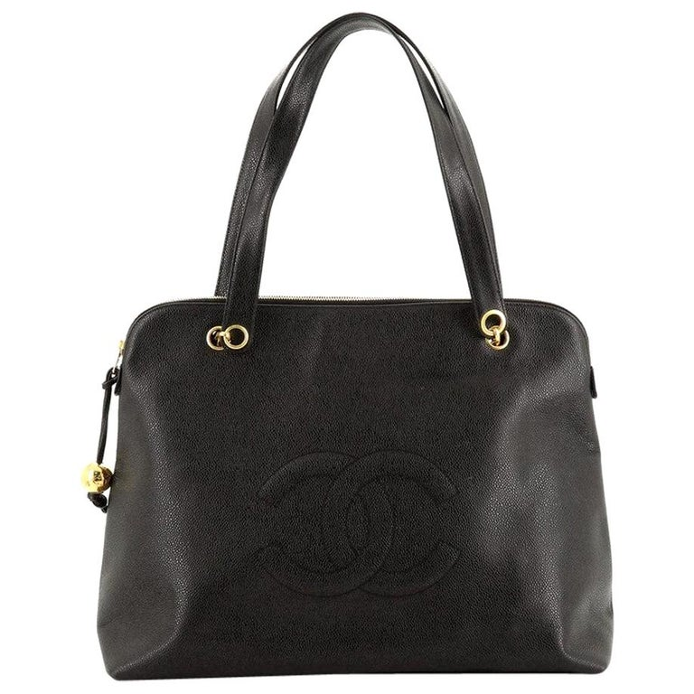 Chanel Vintage Timeless Zip Tote Caviar Large For Sale