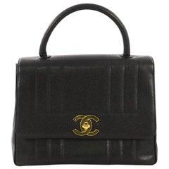 3898fac9a0f244 Chanel Vintage Top Handle Bag Vertical Quilt Caviar Jumbo