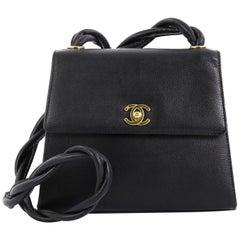 Chanel Vintage Top Handle Flap Bag Caviar Medium