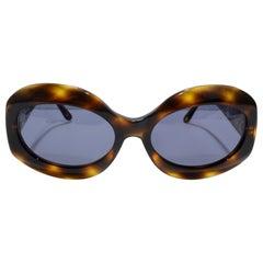 Chanel Vintage Tortoise Shell Sunglasses