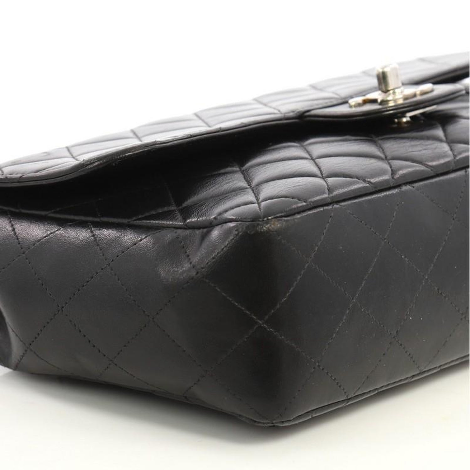 36cdba7ad1b603 Chanel Vintage Twin Top Handle Flap Bag Quilted Lambskin Medium For Sale at  1stdibs