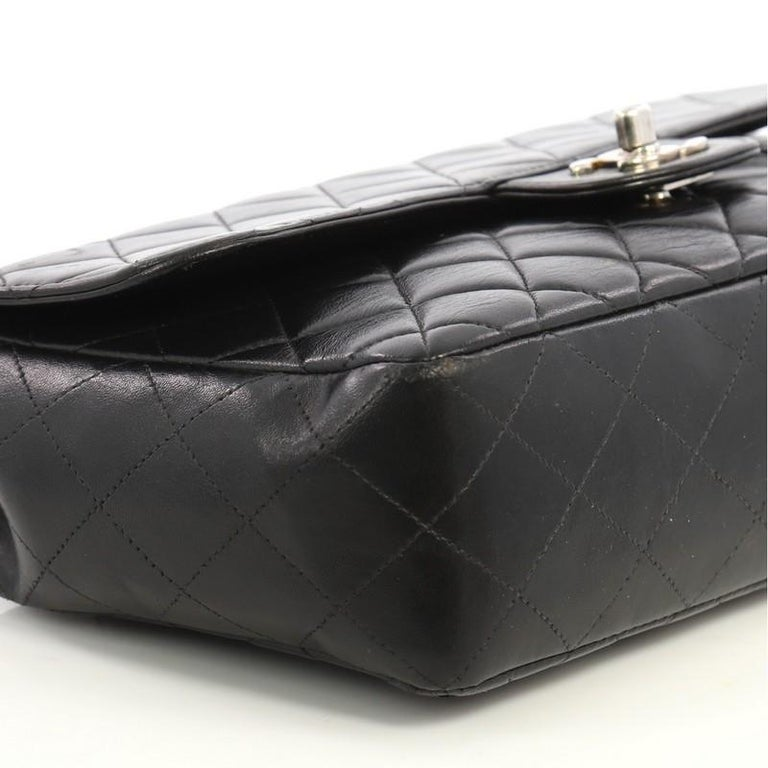 69045a7ea0df Chanel Vintage Twin Top Handle Flap Bag Quilted Lambskin Medium For Sale 1