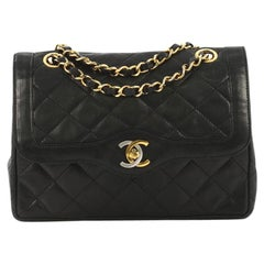 Chanel Vintage Two-Tone CC Flap Bag Quilted Lambskin Small