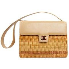 CHANEL Vintage Wicker Bag