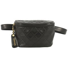 Chanel Vintage Zip Belt Bag Quilted Lambskin Small