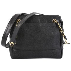 Chanel Vintage Zipped Chain Tote Caviar Small