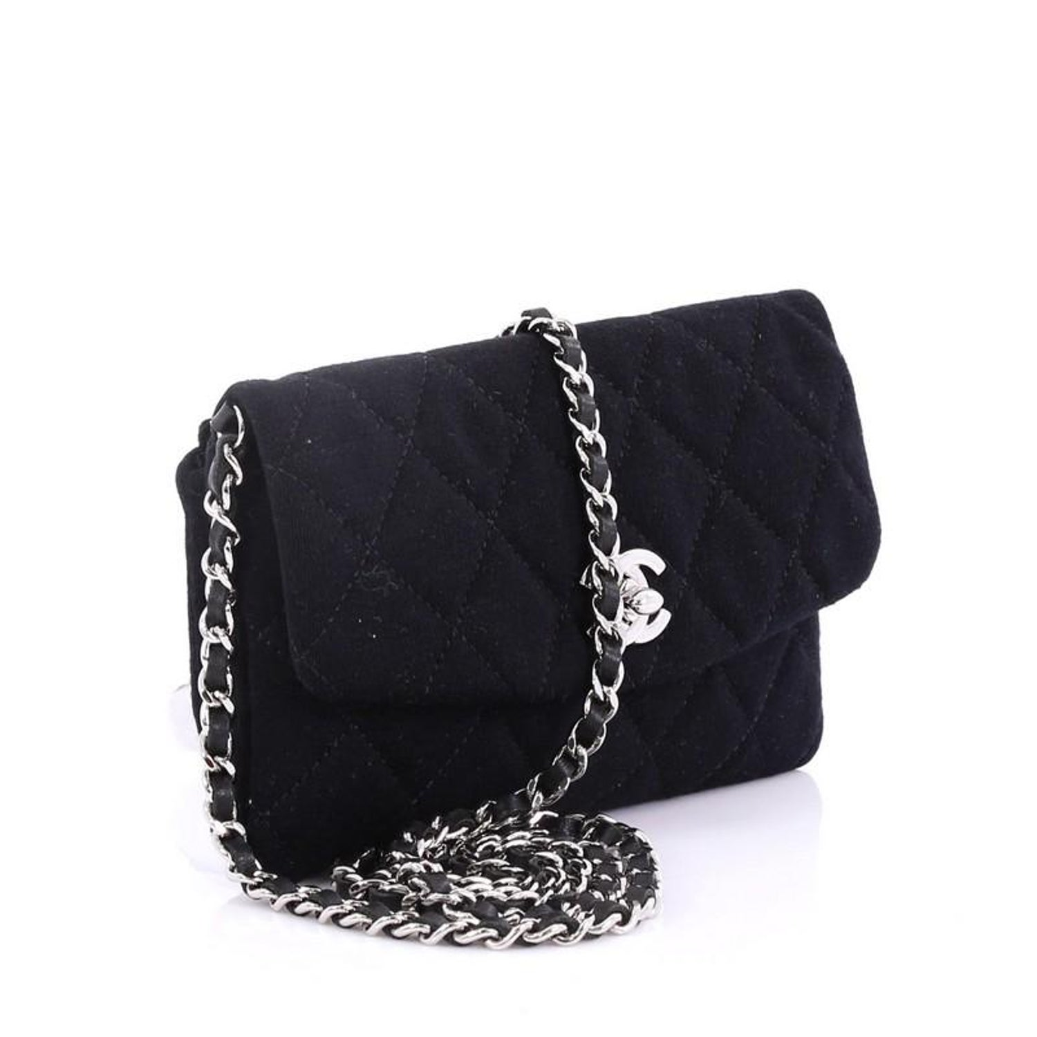 4ecbf38d9ddf Chanel VIP Chain Crossbody Quilted Jersey at 1stdibs
