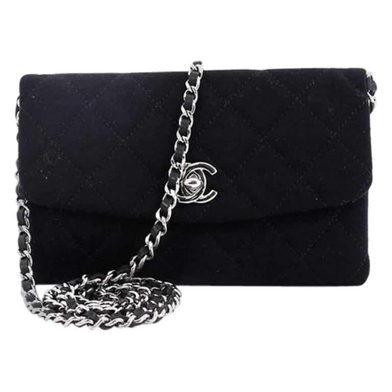 Chanel Vip Chain Crossbody Quilted Jersey For Sale At 1stdibs