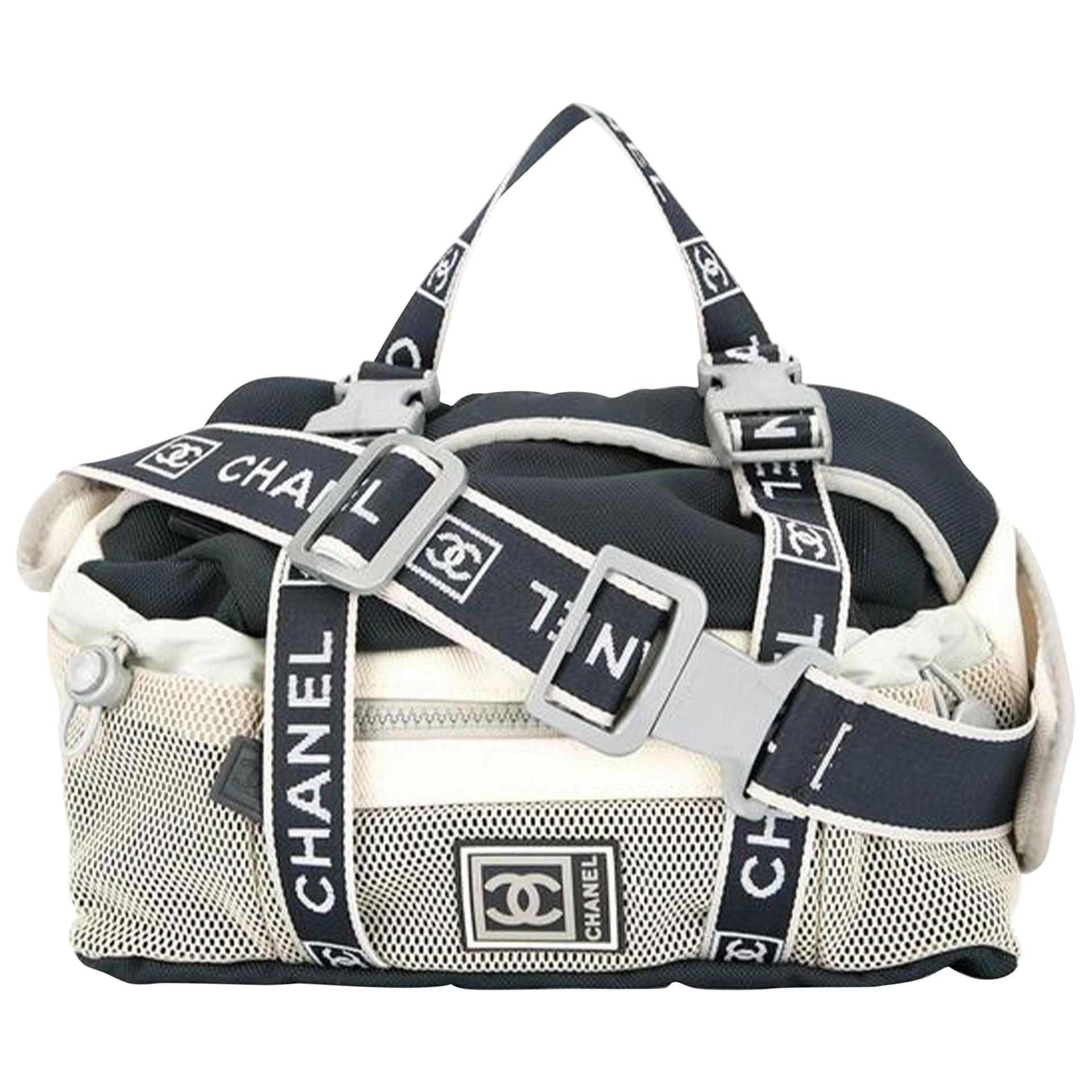Chanel Waist 2000s Vintage Sport Unisex Navy Blue Cross Body Fanny Pack