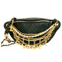 Chanel Waist Bum Bag Lambskin, Gold-Tone Pearls Chains