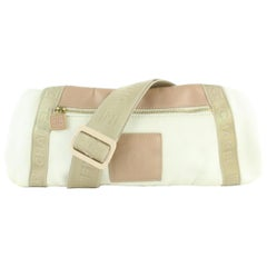 Chanel Waist Pouch Fanny Pack Belt 16cz1130 Beige Canvas Cross Body Bag