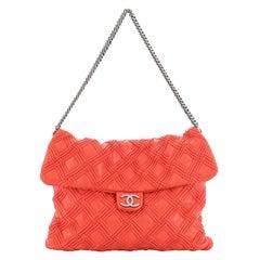 Chanel Walk Of Fame Flap Bag Stitched Lambskin Large