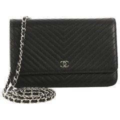 Chanel Wallet on Chain Chevron Caviar
