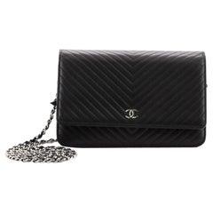 Chanel Wallet on Chain Chevron Lambskin