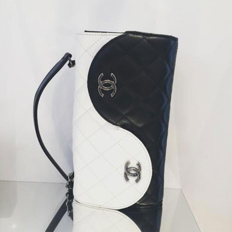 Chanel Wallet on Chain Classic Flap Rare Ying Yang Mini Woc Cross Body Bag For Sale 2